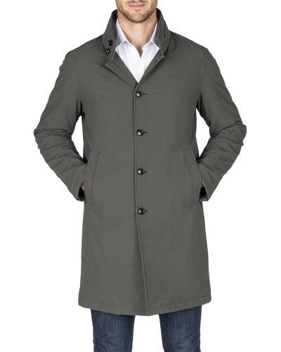 Men's Waterproof Trench Coat