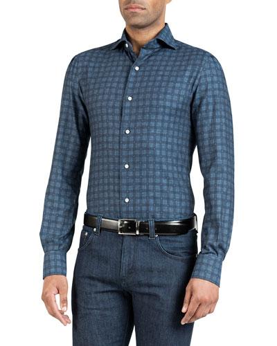 Men's Check Cotton Sport Shirt