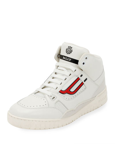 Men's King Leather High-Top Sneakers