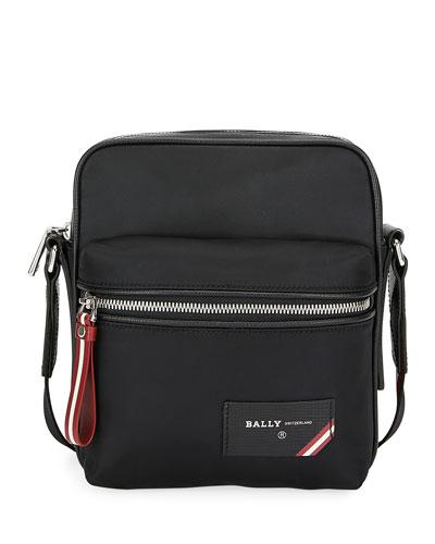 Men's Faara Trainspotting-Stripe Crossbody Bag