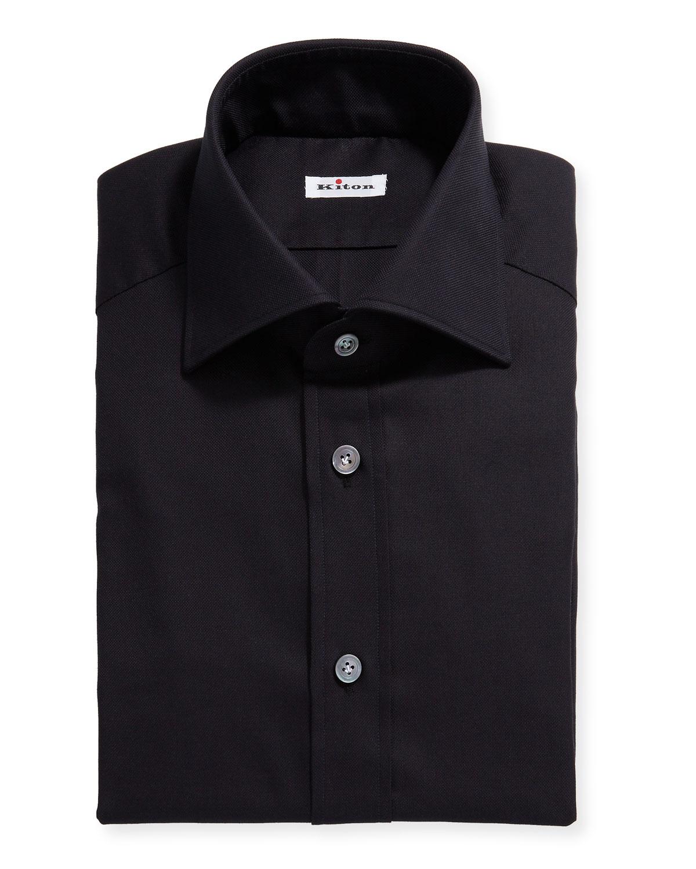 Kiton Dresses MEN'S SOLID OXFORD DRESS SHIRT