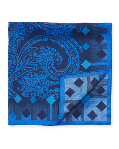 Men's Paisley Silk Pocket Square