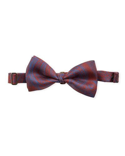 Paisley Pattern Silk Bow Tie