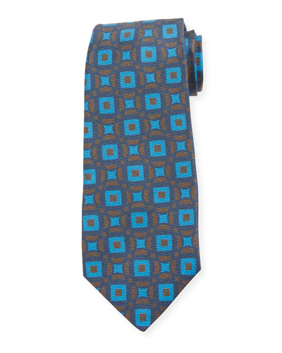 Connected Circles Silk Tie