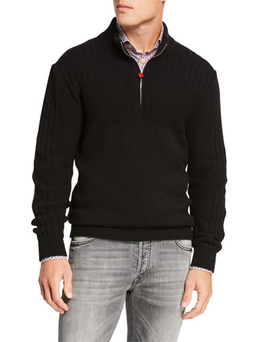 Men's Quarter-Zip Cashmere Sweater
