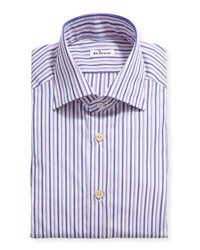 Men's Multi-Stripe Cotton Dress Shirt
