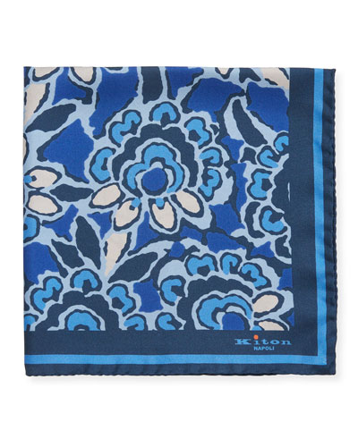 Men's Floral Silk Pocket Square