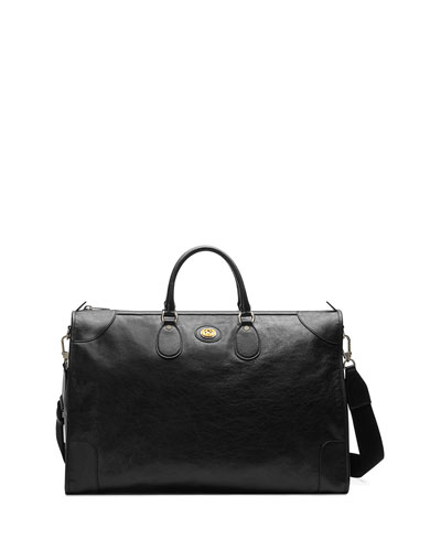 Men's Leather Weekender Duffel Bag