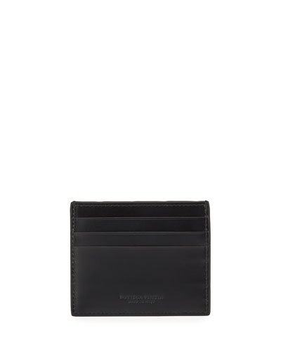 Men's Intrecciato Leather Card Case
