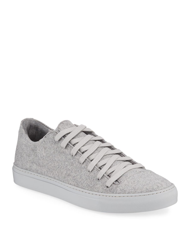 John Varvatos Sneakers MEN'S REED LOW-TOP WOOL-FELT SNEAKERS