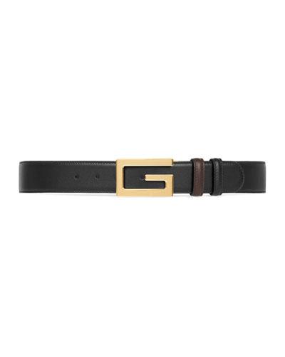 7ed3db7dff2 Men s Retro G Reversible Leather Belt Quick Look. Gucci