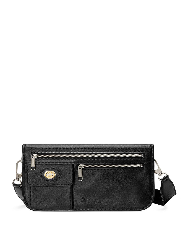 5f1855d136f Gucci Men. GUCCI. Men s Leather Crossbody Messenger Bag ...