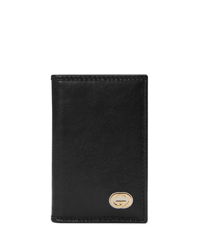 Men's Bi-Fold Leather Card Case