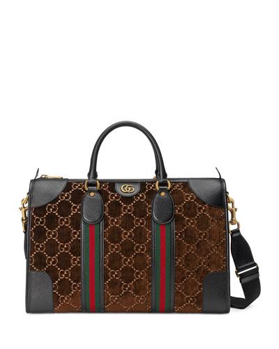 Men's GG Velvet Weekender Bag