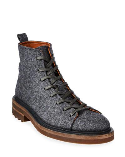 Men's Essex Trooper Wool Felt Ankle Boots