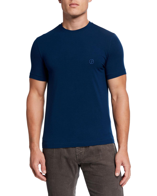 Giorgio Armani T-shirts MEN'S JERSEY-STRETCH CREWNECK T-SHIRT