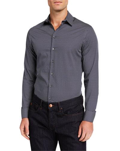 Men's Micro-Melange Sport Shirt