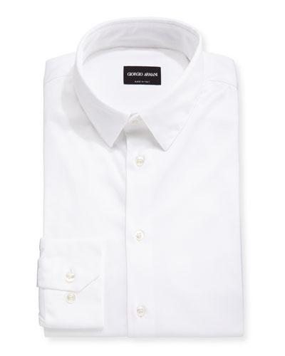 Men's Stretch Jersey Sport Shirt, Off White