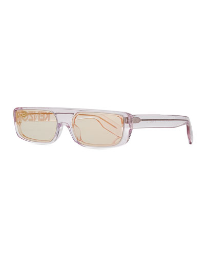 Men's Logo Acetate Sunglasses, Pink