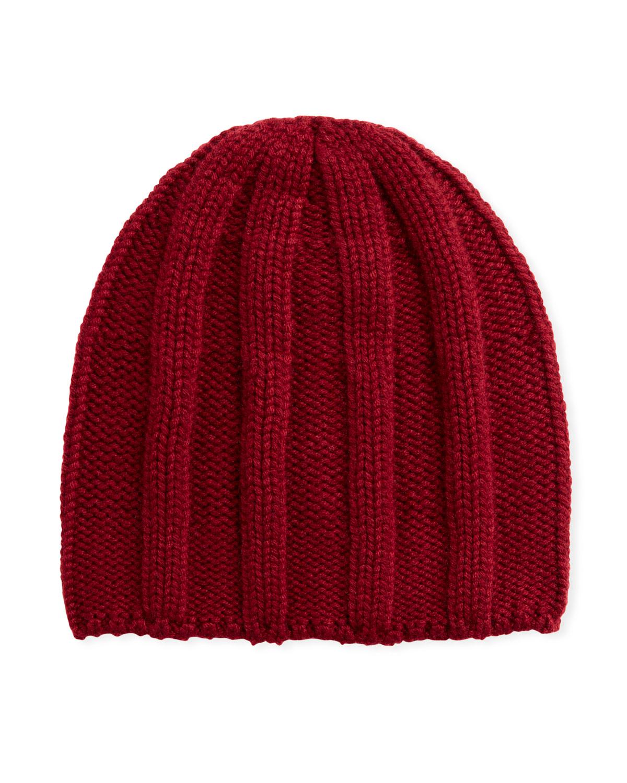Brunello Cucinelli Hats MEN'S CASHMERE RIBBED BEANIE HAT