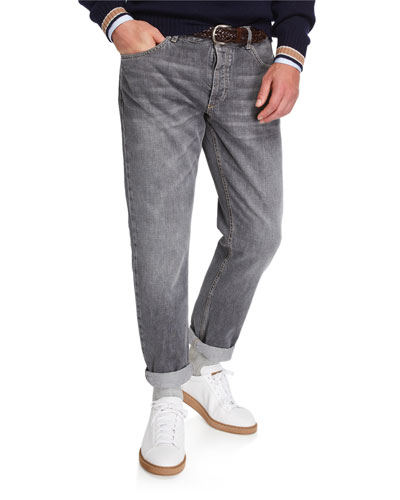 Men's Traditional-Fit Selvedge Denim Jeans