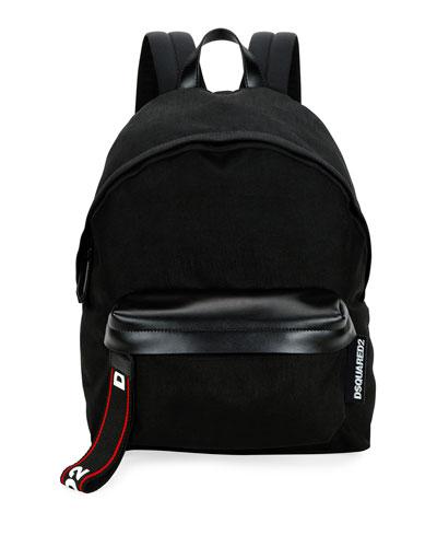 Men's Logo-Tab Nylon Backpack