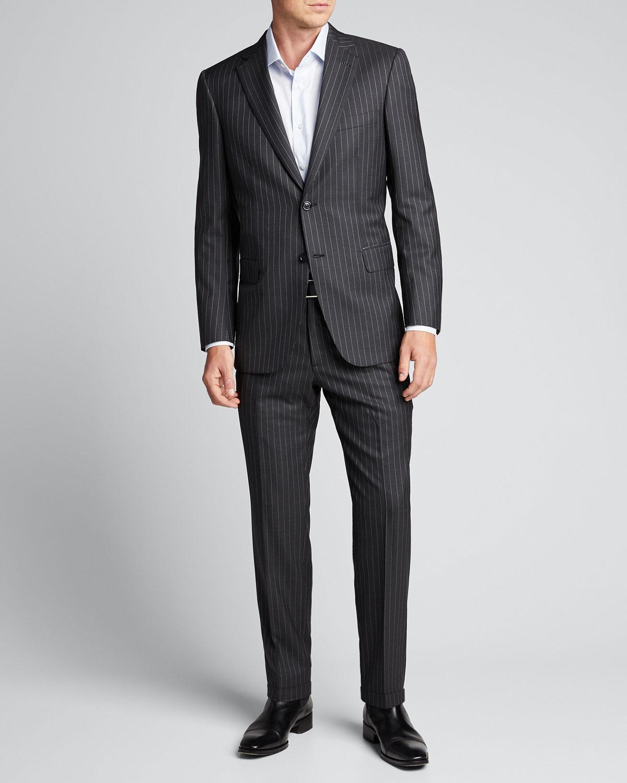 Brioni Suits MEN'S PINSTRIPED TWO-PIECE SUIT