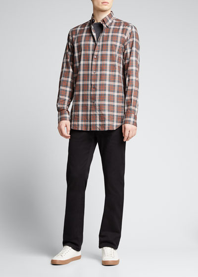 Men's Slim-Straight Twill Pants