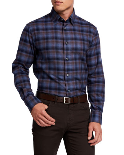 Men's Plaid Sport Shirt