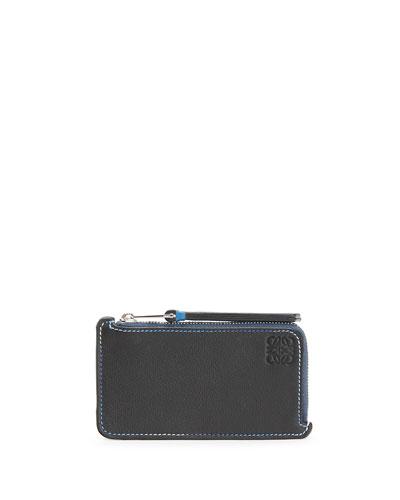 Men's Rainbow Leather Coin Card Holder