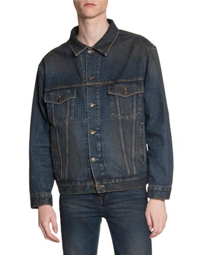 Men's Dirty-Wash Jean Jacket