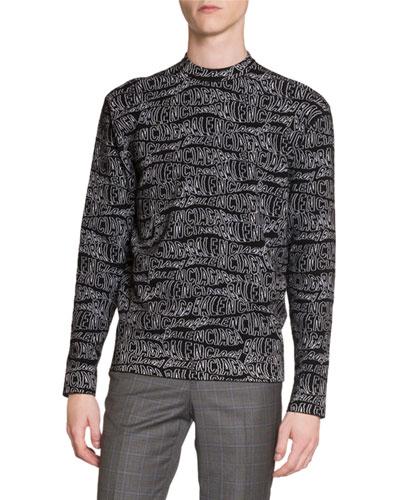 Men's Multi-Logo Crewneck Sweater