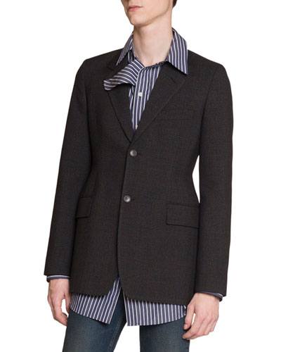 Men's Hourglass Plaid Two-Button Jacket