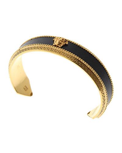 Men's Metal & Leather Signature Cuff Bracelet