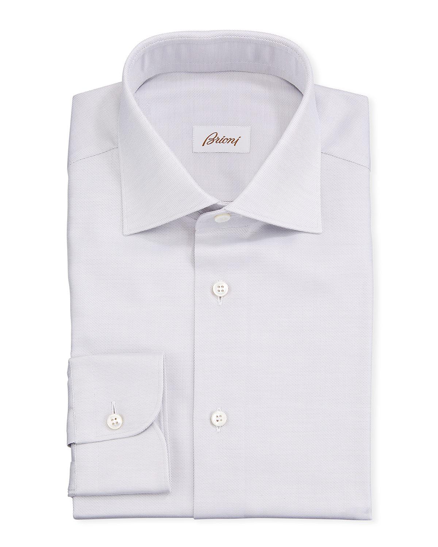 Brioni Dresses MEN'S TEXTURED SOLID DRESS SHIRT