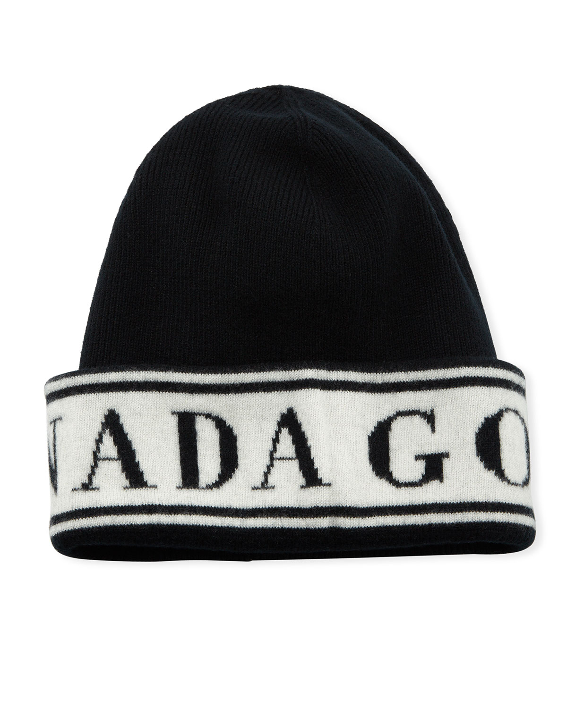 Canada Goose Hats MEN'S WOOL LOGO TOQUE BEANIE HAT