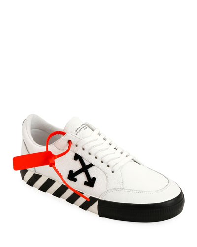 Men's Arrow Leather Sneakers with Stripes