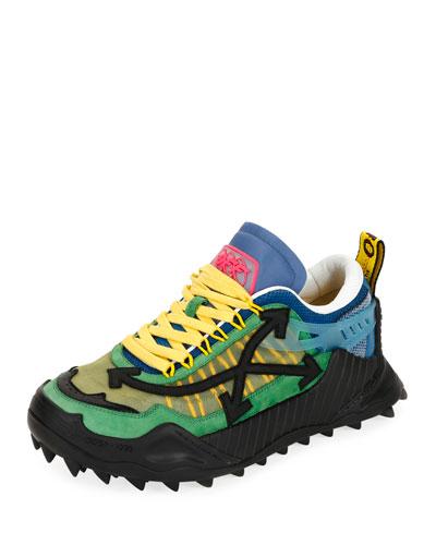 Men's Odsy-1000 Arrow Colorblock Sneakers, Dark Green