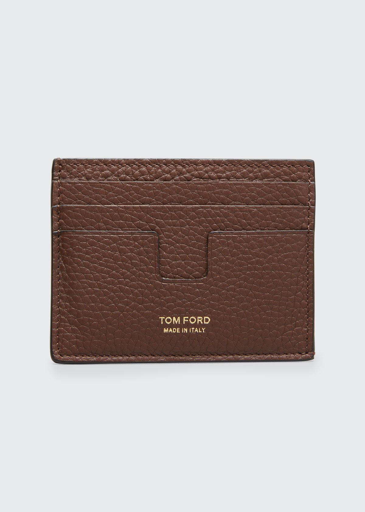 Tom Ford Accessories MEN'S LEATHER CARD HOLDER