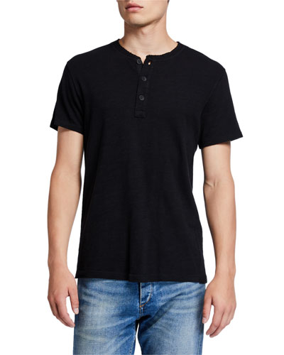 Men's Classic Short-Sleeve Henley Shirt