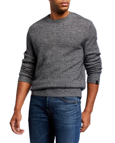 Men's Haldon Crewneck Marled Cashmere Sweater