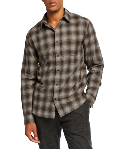 Men's Double-Face Plaid Shirt