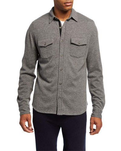 Men's Cashmere Sport Shirt