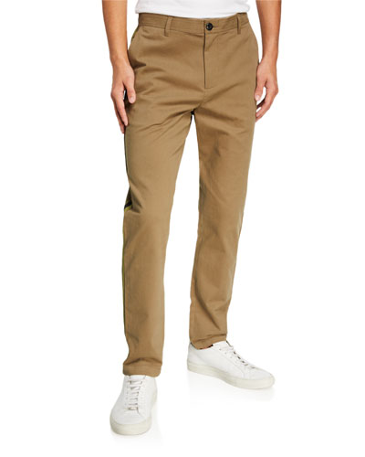 Men's Side-Stripe Chino Pants