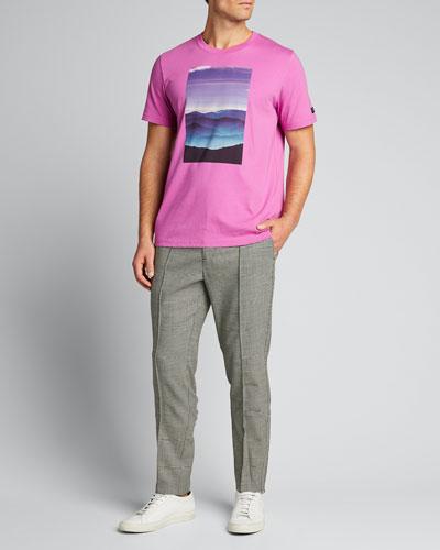 Men's Pleated Wool Houndstooth Pants