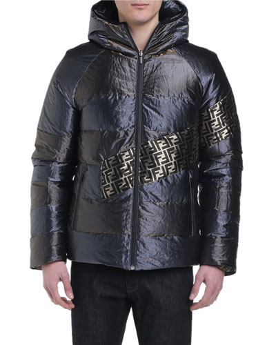 Men's Metallic Reversible Puffer Coat