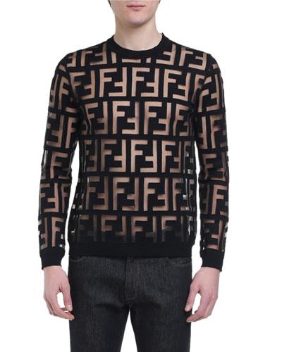 Men's Sheer FF Crewneck Sweater