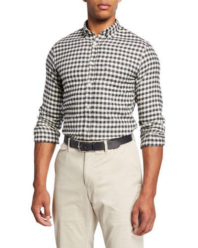 Men's Brushed Flannel Check Sport Shirt