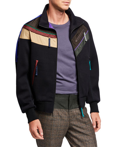 Men's Colorblock-Striped Jacket