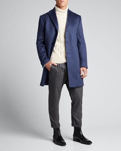 Men's Heathered Cashmere Topcoat